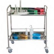 Guéridon médical inox 18/10e - Charge utile : 100 kg