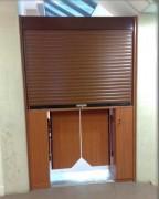 Guichet en bois - Volets roulants à lames aluminium ou PVC