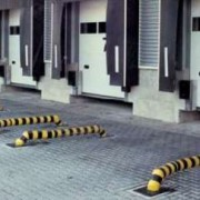 Guide roues jaune et noir - Dimensions ø ca. 159 mm, Lo 2.330 mm, Ha ca. 247 mm