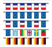 Guirlandes de drapeaux pays - Dimensions  : 20x30cm - 30x40cm -  40x50cm