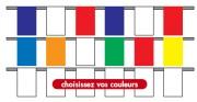 Guirlandes pavillons en tissu - Dimensions: 20x30cm - 30x40cm - 40x50cm