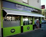 Habillage façade magasin en aluminium - Habillage façade posées sur châssis aluminium