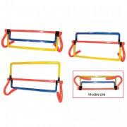 Haie 3 hauteurs initiation athlétisme - Hauteur réglable - Utilisable en intérieur et extérieur