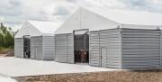 Hall de stockage modulaire 15x30 m - Chapiteau de stockage modulaire de 450m2