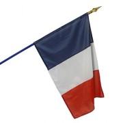 Hampe de pavillon et drapeau - Hauteur hampe : de 1400 à 2200 mm