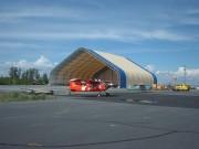 Hangar avion en toile - Protection contre les intempéries - Espace sécurisé