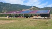 Hangar d'élevage agricole