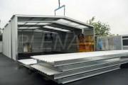 Hangar de stockage démontable - Hauteur latérale : de 3 à 10 m (variable selon modèle)