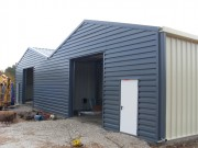 Hangar de stockage en acier galvanisé plié - Portée : 5 à 20 m