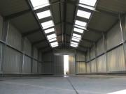 Hangar de stockage métallique en acier galvanisé - Matière : Acier galvanisé