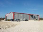 Hangar métallique à portée 6 à 20 m - Hauteur sous gouttière de 3 à 6 m