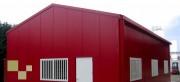 Hangar métallique double pente