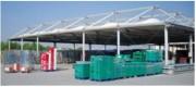 Hangar ouvert  avec couverture textile - Hangar avec couverture textile version auvent