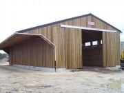Hangar stockage sel en bois - Largeur de 12 m et de profondeur variable