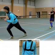 Harnais de résistance athléstisme - Renforcement musculaire - Longueur sangle : 3.20 m