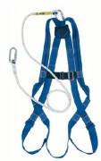 Harnais de sécurité 1 point pour la retenue - Sangles polyamide - Anneau dorsal acier inoxydable