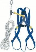 Harnais de sécurité 2 point pour toitures - Coulisseau antichute de 10 m - Longe de 30 cm