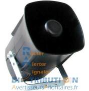 Haut parleur FM homologué véhicule prioritaire et urgences - Niveau sonore : 114 dBA, puissance maxi : 40W
