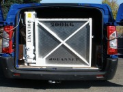 Hayon élévateur fauteuil pour camionnette - Capacité : 200 kgs - Mono poutre