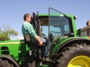 Hayon pour tracteur - Pour PMR - Rotation du siège : Manuelle, électrique