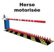 Herse de sécurité motorisée - Dents de 20 mm d'épaisseur et de 210 mm de hauteur
