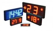 Horloge à LEDS elliptiques - Box métallique traité et verni - Fonctionnement  -15°C à +40°C