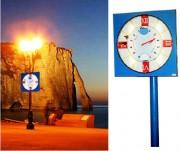 Horloge de marée - Lisibilité : 80 mètres