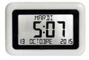 Horloge digitale avec calendrier - Fixation murale ou sur pied