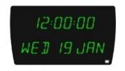 Horloge digitale de bureau - Dimensions (L x H x P) :  520 x 295 x 75 mm