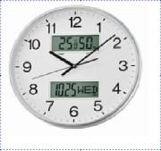 Horloge digitale et analogique - Double affichage - Diamètre : 33,1 X 5,5 cm