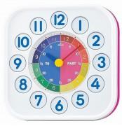 Horloge enfant - Cadran coloré - format carré