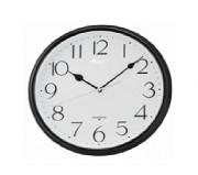 Horloge murale à contour noir - Diamètre : 28 x 3,9 cm