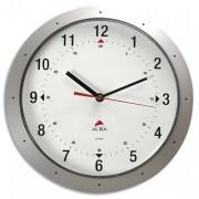 Horloge murale easy time métal gris diamètre 30cm - Alba