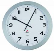 Horloge murale géante Horgiant contour ABS D60 cm gris, chiffres noirs lentille en verre à quartz - Grande Horloge Murale