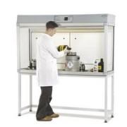 Hotte à flux laminaire et extraction des vapeurs - Aluminium