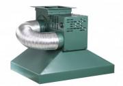 Hotte de forge avec ventilateur d'appoint et extracteur intégré - Dimensions : 800 x 600 x 600 mm - Extracteur avec moteur de 230 V monophasé