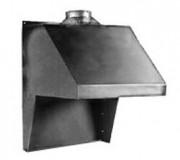 Hotte de forge pour convection naturelle d'une dimension de 600 x 480 x 890 mm - Dimensions : 600 x 480 x 890 mm - Fixation sur la forge ou au mur