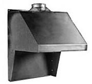 Hotte de forge pour convection naturelle d'une dimension de 700 x 700 x 950 mm - Dimensions : 700 x 700 x 950 mm - Fixation sur la forge ou au mur