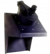 Hottes de forge ventilées avec extracteurs de fumées - Dimensions : 700 x 700 x 950 mm - Fixation sur la gorge ou au mur