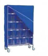 Housse pour chariot casiers - 100 % en polyamide - Coloris : bleu foncé