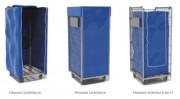 Housse pour chariot roll - En tissu 100% polyamide - Coloris : bleu