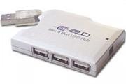 Hub USB 2.0 4 ports slim - Hub USB 2.0 4 ports slim + Alimentation