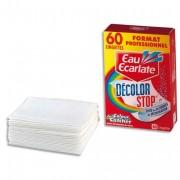 HYG Boite de 60 lingettes décolorstop EAU ECARLATE PROFESSIONNEL - Eau Ecarlate