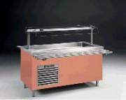 Ilot réfrigéré pour self - 0.26 kW - 6 bacs