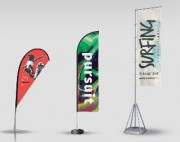 Impression drapeau publicitaire personnalisé - Imprimé par sublimation textile