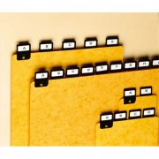 Intercalaires classeur avec onglet métallique format A6