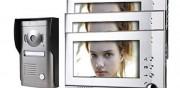 Interphone vidéo couleur - Ecran couleur - ouverture de gâche électrique/porta