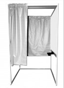 Isoloir de vote pour handicapés - Dimensions : 115 x 135 x 200 cm - En aluminium