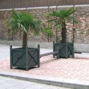 Jardinière à palmier en acier - Hauteur : 750 mm