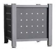 Jardinière bac en tôle acier 50x50 mm - Dimensions (mm) : 980 x 980 x 700